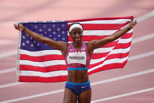 Picture for American Keni Harrison wins silver medal, finds redemption in 100-meter hurdles at Tokyo Games