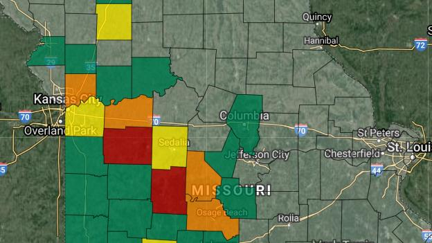 Picture for Several power outages reported across Mid-Missouri; severe weather causing damage