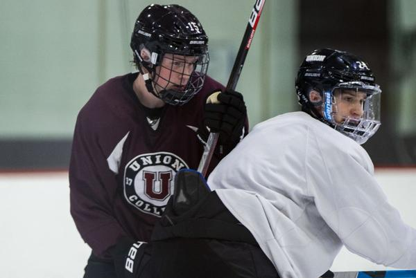 Picture for Union College hockey's Richter enjoys being a forward more than a goalie