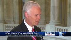 Cover for YouTube bans US Sen. Ron Johnson from posting videos for 7 days
