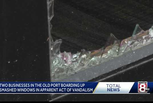 Picture for Two Portland businesses vandalized on Wharf Street