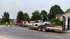 Cover for Crash slows traffic at 17 Mile and Myers Lake in Kent County