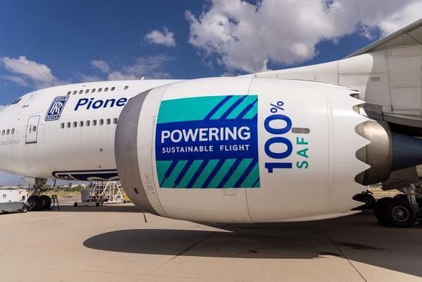 Picture for Rolls-Royce Flies A Trent 1000 Engine On 100% Sustainable Fuel