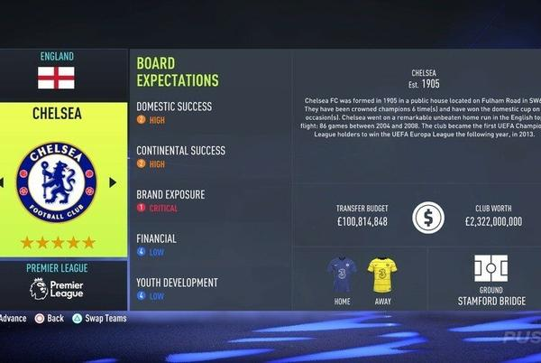 Picture for FIFA 22: All Starting Transfer Budgets in Career Mode