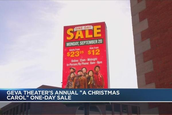 Picture for Geva Theatre holds 'one day sale' for 'A Christmas Carol'