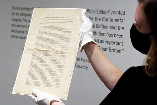 Picture for A Rare First-Edition Copy of the US Constitution Could Fetch $20 Million at Auction