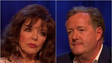 Picture for Piers Morgan shut down by Dame Joan Collins over Meghan Markle question during Life Stories interview