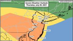 Cover for N.J. weather: Tornado warning issued as severe thunderstorms slam state