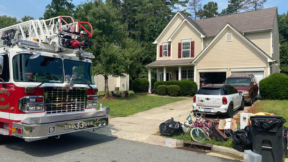 Picture for 9 children among those displaced by north Charlotte fire