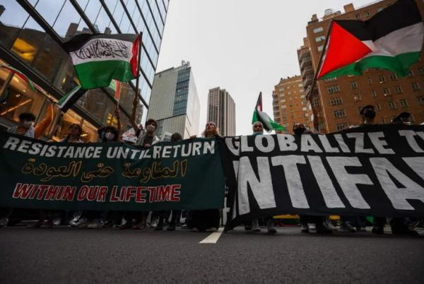 Picture for 'Globalize Intifada': Pro-Palestine Protesters March in New York