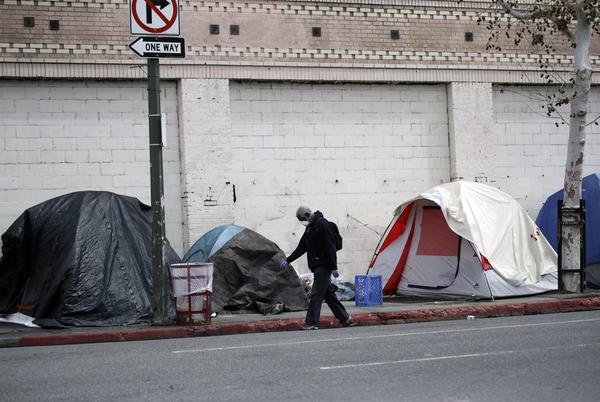 Picture for US court order to house LA Skid Row homeless overturned