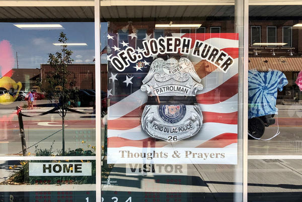 Picture for FdL business displays support for Ofc. Joseph Kurer