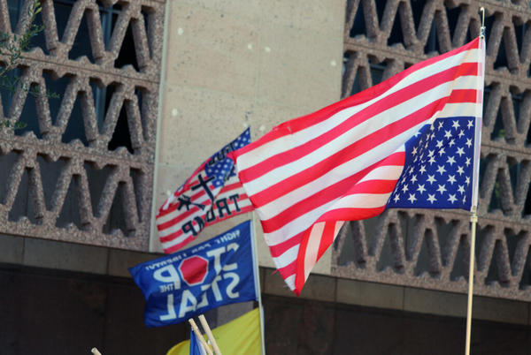 Picture for Arizona 'Justice for J6' rally draws small crowd of extremists, GOP officials
