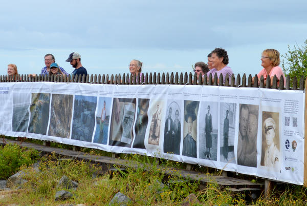Picture for Banner tells history of Salvo Community Cemetery and erosion