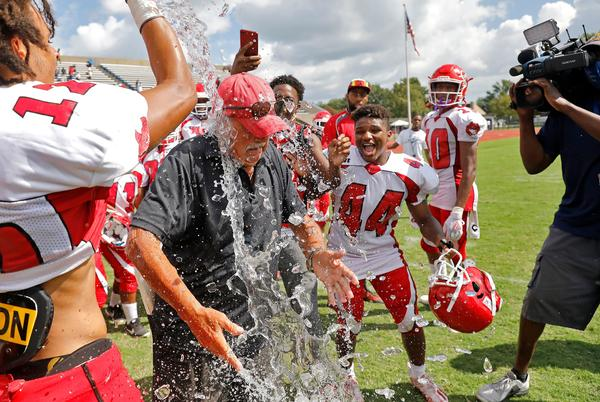 Picture for Victory No. 500: Hampton coach Mike Smith achieves milestone as the defense shines in a win over Menchville