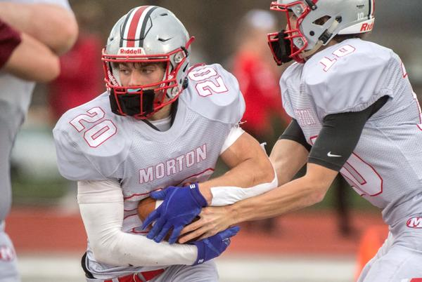 Picture for Morton football team upsets state-ranked Pekin in Mid-Illini Conference game