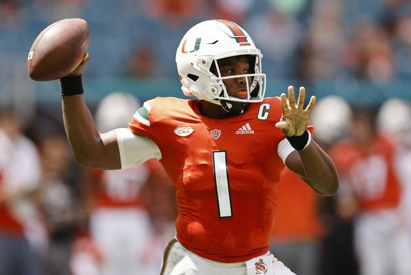 Picture for D'Eriq King's injured shoulder means Miami will play new QBs