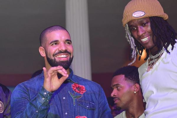 Picture for Young Thug Gifts Drake Diamond OVO Chain Featuring Photo of Adonis for 35th Birthday