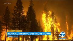 Cover for Dixie Fire: Blaze engulfs Northern California town, leveling businesses
