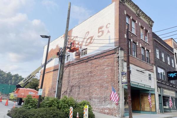 Picture for Coca-Cola mural restoration project underway in Brownsville