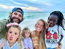 Picture for Lauren Akins Shares Family Beach Selfie — and Reveals Adorable Reason Ada James Is Wearing Makeup!