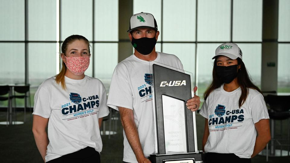 Picture for UNT women's golf team continues climb under coach Michael Akers, grabs berth to NCAA regionals