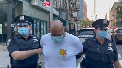 Picture for Husband arrested after woman beaten with crow bar at bus stop in New York dies of her injuries