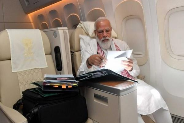 Picture for This is how PM Modi spends time on 'long flight' to US