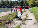 Picture for RED Day revs up volunteers: Keller Williams crew cleans trash from Lakeshore