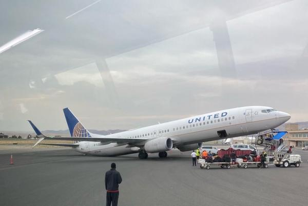 Picture for UPDATED AT 5:52 P.M.: USC football team members unhurt when plane tips at Lewiston airport