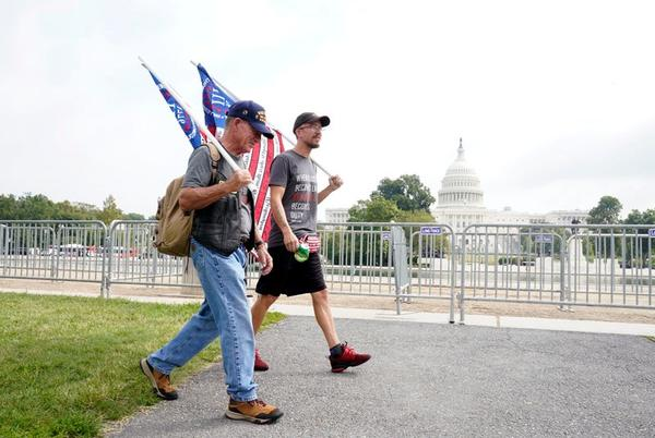 Picture for Local Trump allies hold rally in support of those arrested during Capitol riots