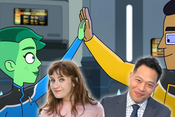 """Picture for Interview: Noël Wells And Eugene Cordero On Their """"Intellectual Love Affair"""" In 'Lower Decks' Season 2"""