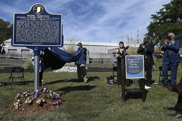Picture for Historical marker dedicated to Indiana lynching victim
