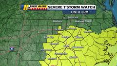 Cover for Parts of central North Carolina at risk for storms, hail and even isolated tornado