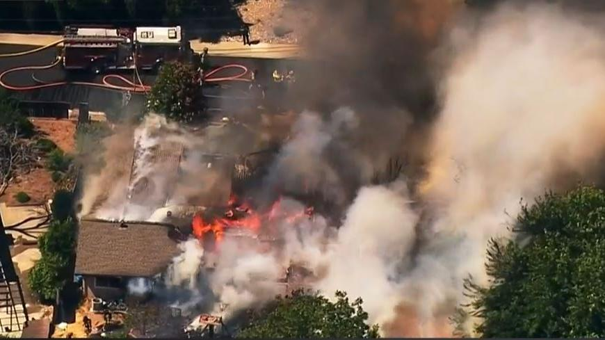 Picture for UPDATE: Fire Destroys 2 Pleasant Hill Homes; Firefighter Suffers Burns