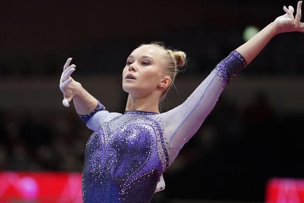 Picture for Angelina Melnikova wins all-around final at gymnastics worlds