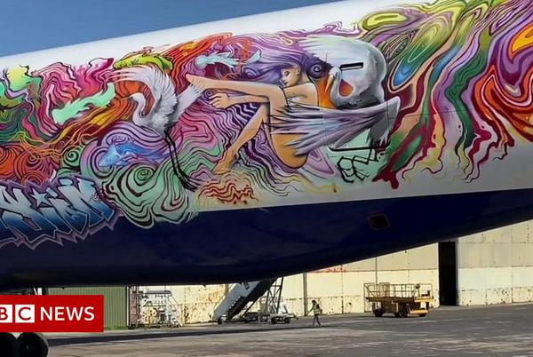 Picture for Planes turned into graffiti canvasses by street artist