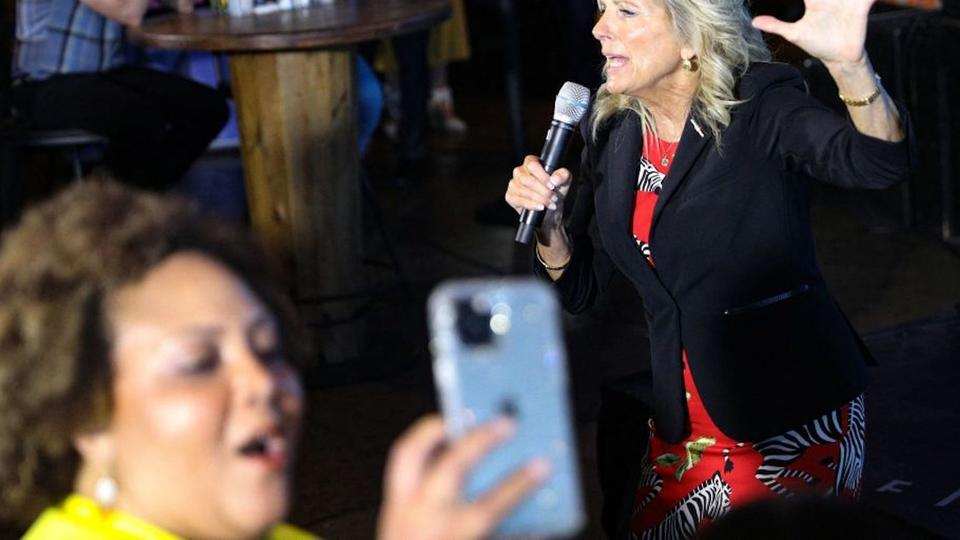 Picture for Video shows a Nashville crowd booing after Jill Biden called out low COVID-19 vaccination rates in Tennessee