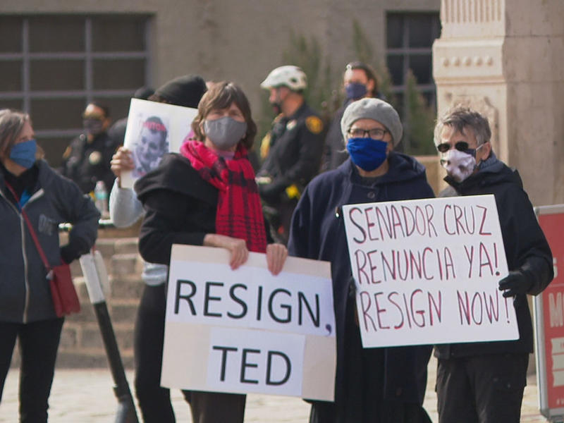Activist leads Senator Ted Cruz protest in front of Alamo ...