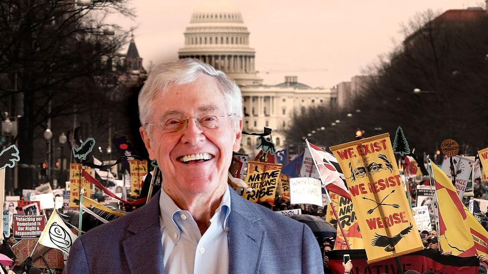 Picture for How so-called libertarian Charles Koch drove a national wave of anti-protest laws