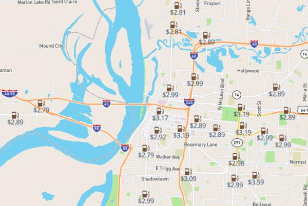 Picture for Gas savings: The cheapest station in Memphis