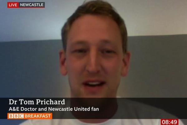 Picture for Newcastle v Tottenham: Doctor describes how he helped save fan's life