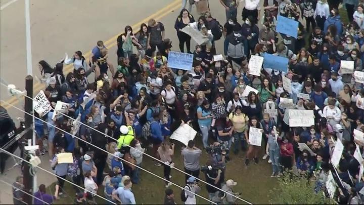 Cover for Students At North Texas High School Stage Walkout In Protest Of Alleged Student Sexual Assault