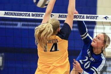 Picture for Rochester clips Minnesota West volleyball team, 3-0