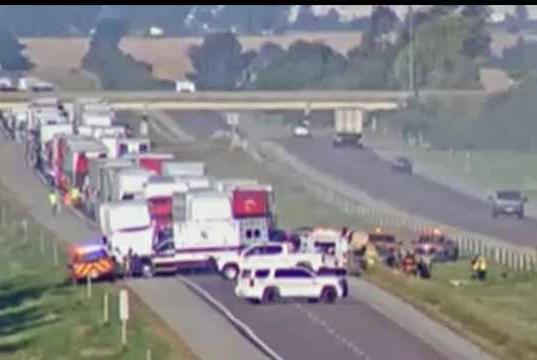 Picture for Eastbound lanes of I-80 reopen after crash near Malcom, 1 injured