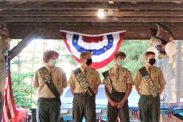 Picture for Community achievements: Four boys from Troop 58 in New Milford become Eagle Scouts