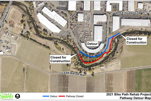 Picture for City of Sparks to close river pathway at Cottonwood Park Wednesday through Friday