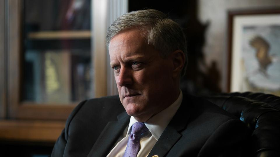 Picture for Mark Meadows says 'Cabinet members' meeting at Trump's New Jersey golf club