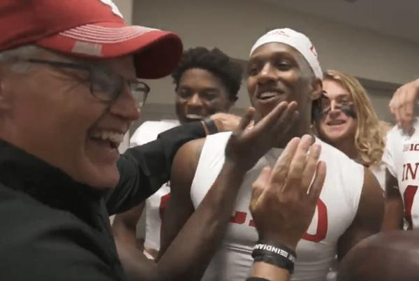 Picture for Watch: Locker room scenes after Indiana's win over Western Kentucky