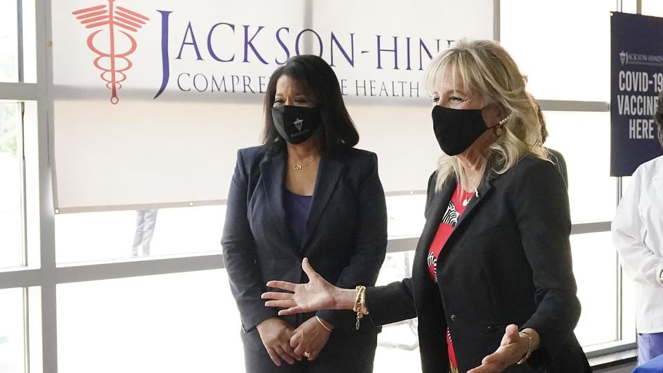 Picture for Jill Biden touts vaccine in poorly inoculated Mississippi
